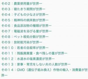 日本の不名誉ベルト10